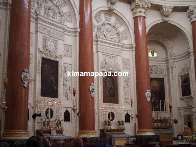 ヴァレッタ、マウント・カーメル大聖堂の内部