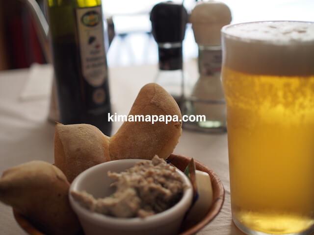 ヴァレッタ、クリアンサレストランのビール