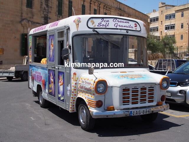 ヴァレッタ、ホスピタル騎士団前のアイスクリーム屋