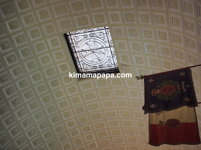 ヴァレッタ、聖ヨハネ大聖堂の天井窓