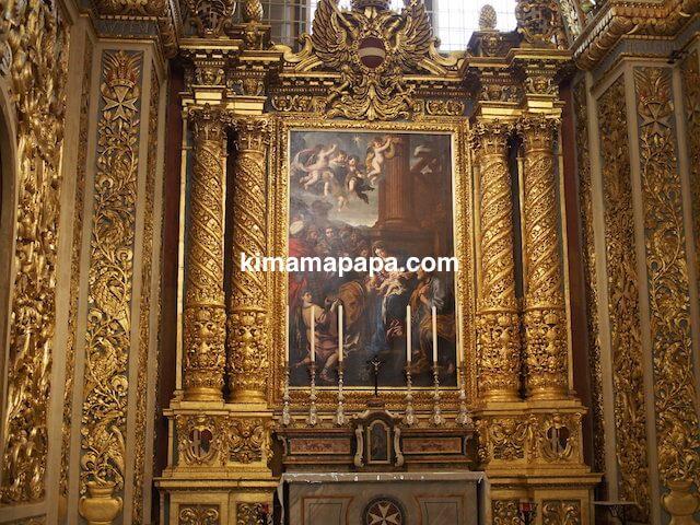 ヴァレッタ、聖ヨハネ大聖堂の絵画