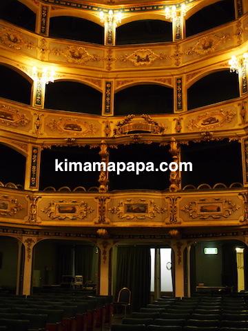 ヴァレッタ、マノエル劇場のボックスシート