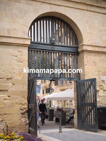 マルタ、ヴァレッタのアッパー・バラッカ・ガーデンズにつながるゲート
